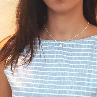 Collar Piecitos Plata de Ley 925