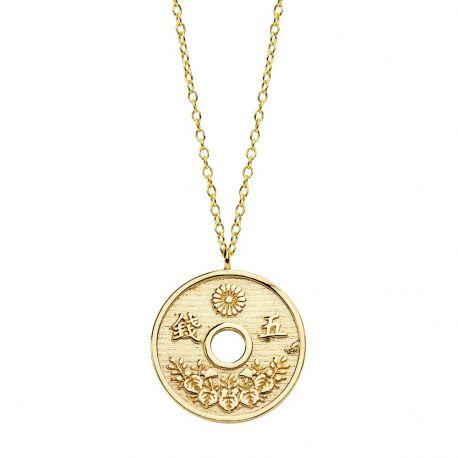 Collar Moneda Japonesa Plata