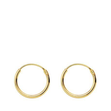 PENDIENTES AROS GOLD 12 mm