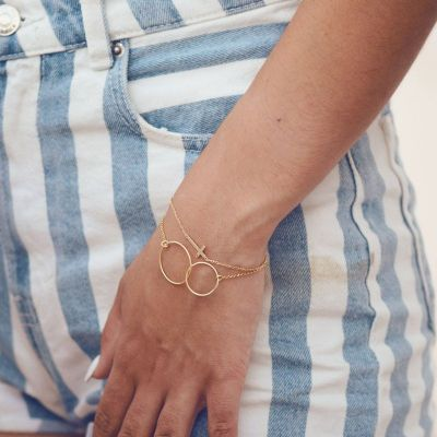PULSERA CRUZ GOLD