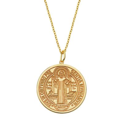 COLLAR SAINT BENEDICT GOLD