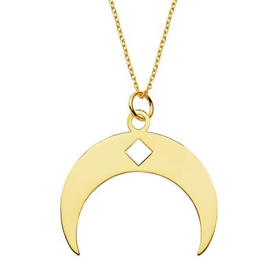 COLLAR BIG MOON GOLD