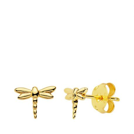PENDIENTES DRAGON FLY GOLD