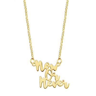COLLAR NOW OR NEVER GOLD