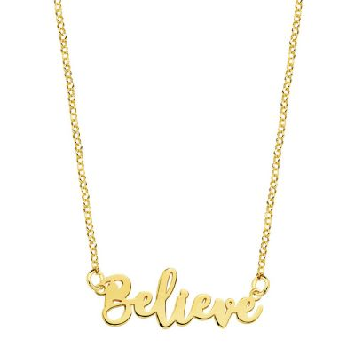 COLLAR BELIEVE GOLD