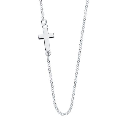 COLLAR MINI CROSS PLATA