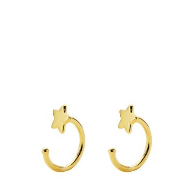 PENDIENTES LUXURY STAR GOLD