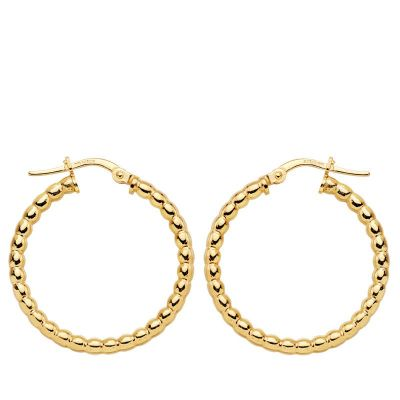 AROS BOLITAS GOLD 25 MM