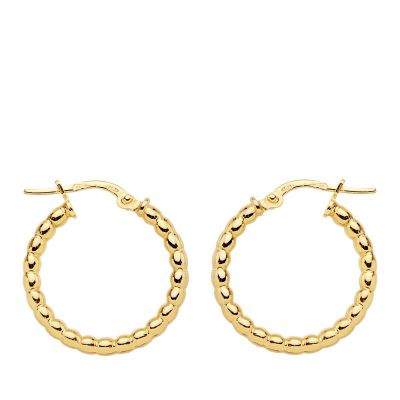AROS BOLITAS GOLD 18 MM