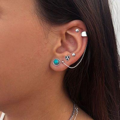 PENDIENTES EAR CUFF PLATA