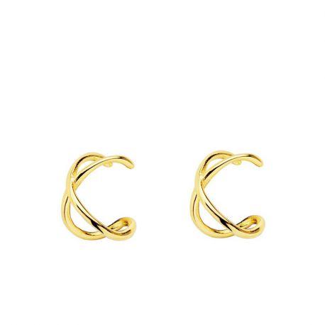 EAR CUFF CROSSED GOLD