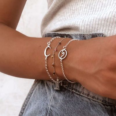 PULSERA BIG MOON PLATA