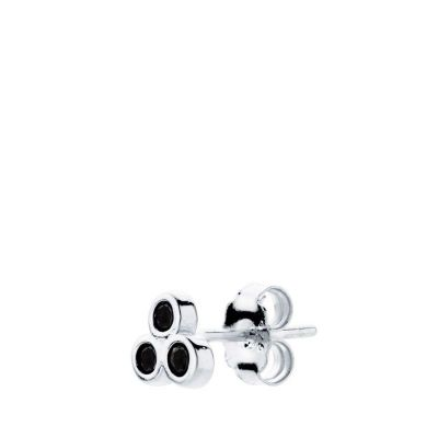 PENDIENTES THREE BLACK SILVER