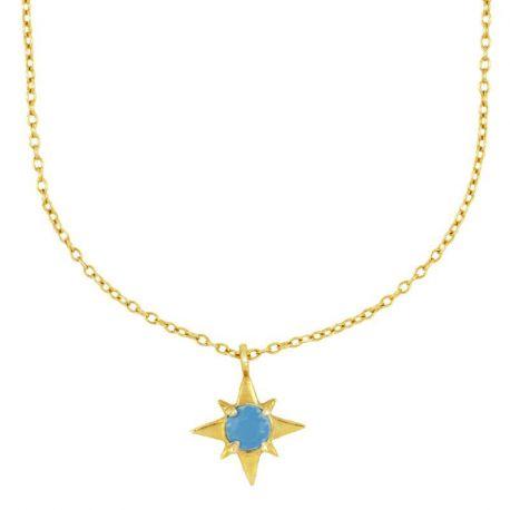 Collar Estrella Turquesa Plata