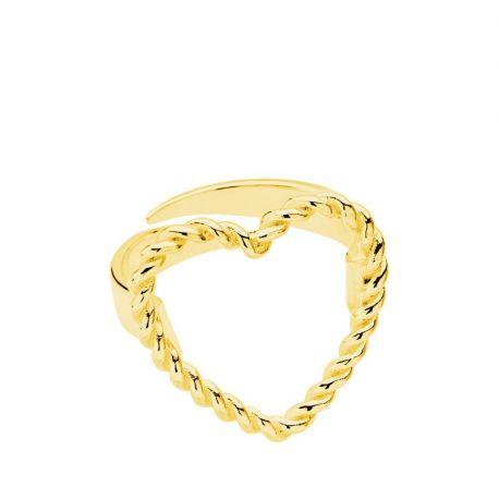 Anillo Twisted Corazón Gold