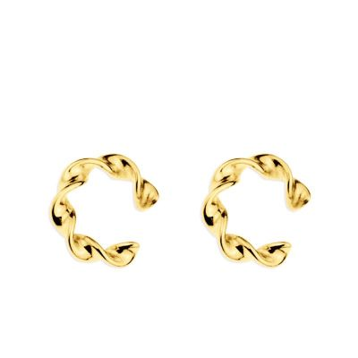 Ear Cuff Twisted Gold