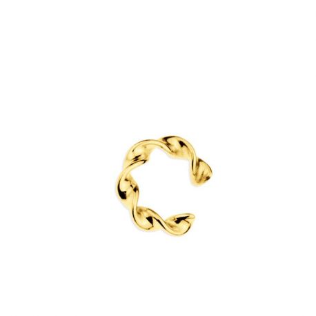 Ear Cuff Suelto Twisted Gold