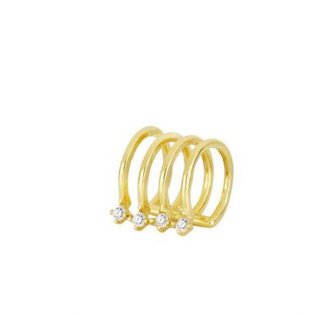 Ear Cuff Suelto Alisa Gold