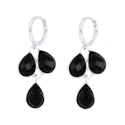 Aros Trixy Black Plata