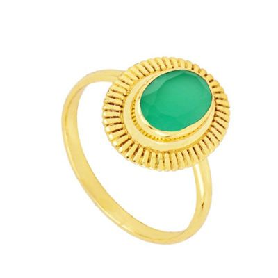 Anillo Zaida Calcedonia Gold