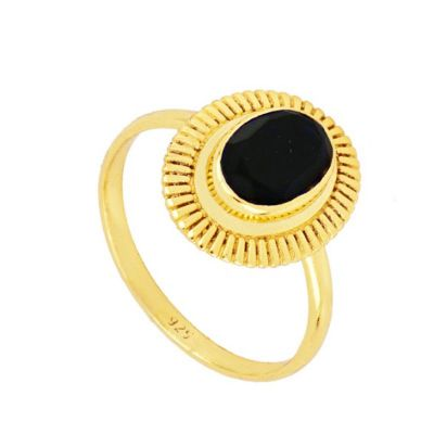 Anillo Zaida Black Gold