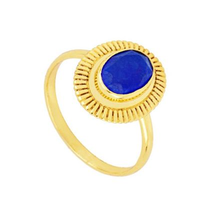 Anillo Zaida Azul Gold