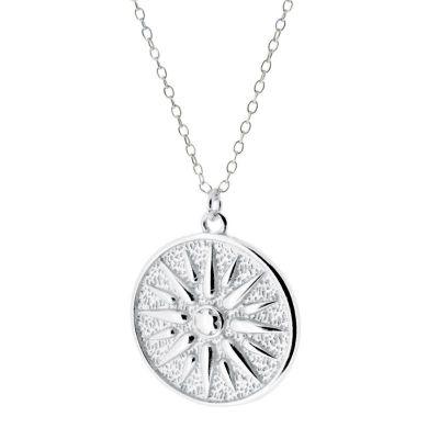 Collar Medallon Sol Plata