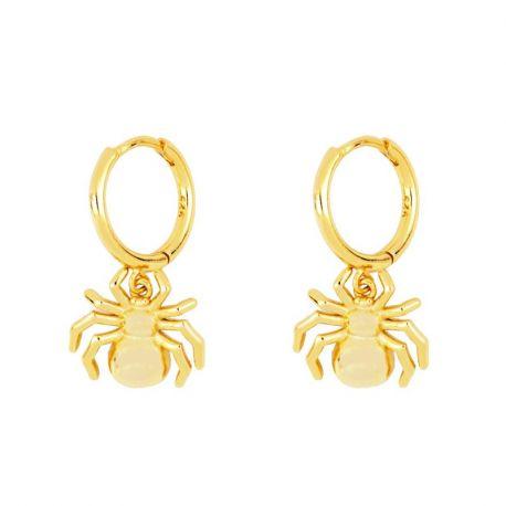 Pendientes Aros Spider Gold