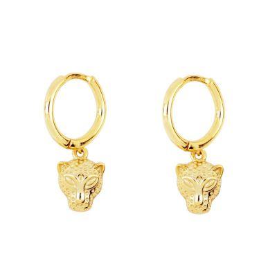 Pendientes Aros Jaguar Gold