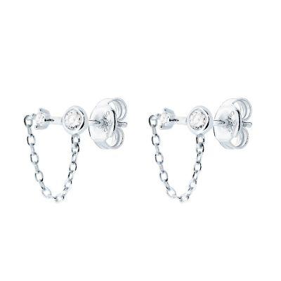 Pendientes Chain Plata