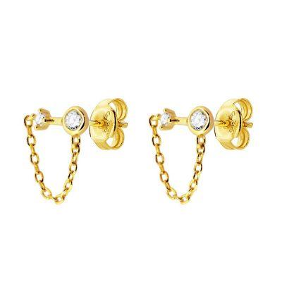 Pendientes Chain Gold