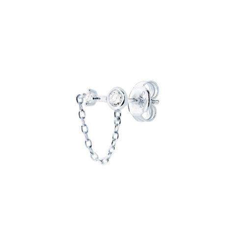 Pendientes Suelto Chain Plata