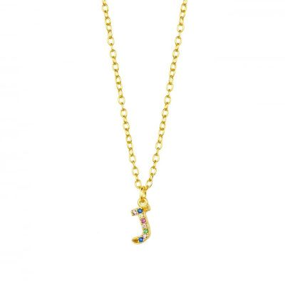 Collar Rainbow Inicial Gold