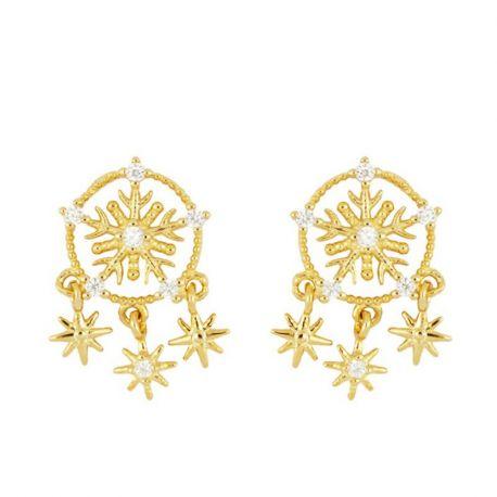 Pendientes Snowflake Gold