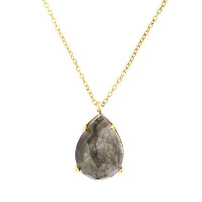 Collar Pear Labradorita Gold