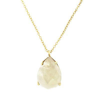 Collar Pear Luna Gold