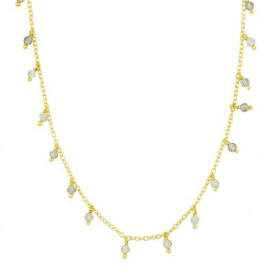 Collar Clara Labradorita Gold
