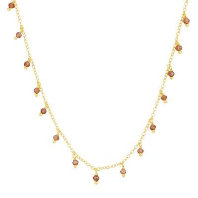 Collar Clara Granate Gold