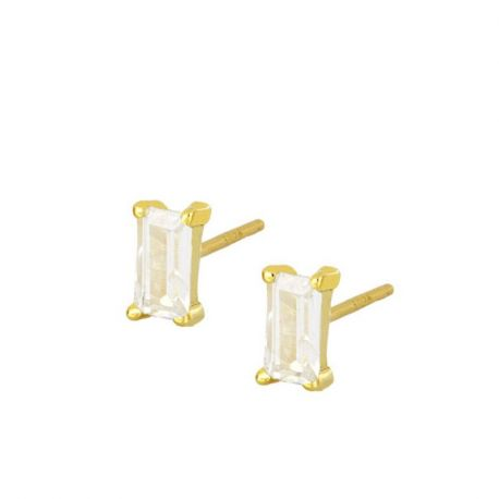Pendientes Mineral White Gold