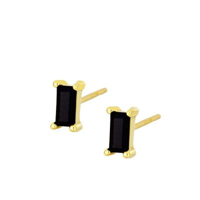 Pendientes Mineral Black Gold