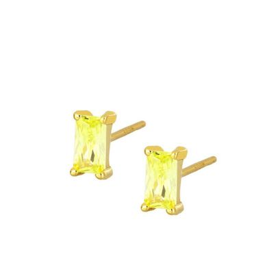 Pendientes Mineral Lima Gold