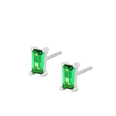Pendientes Mineral Green Plata