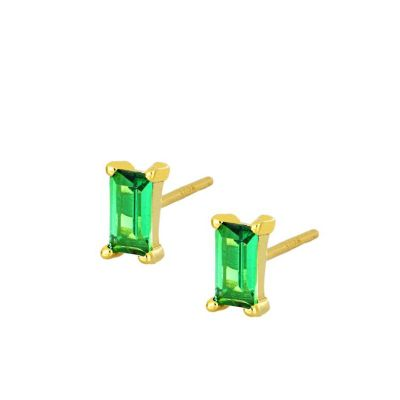 Pendientes Mineral Green Gold