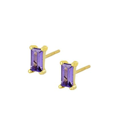 Pendientes Mineral Lila Gold