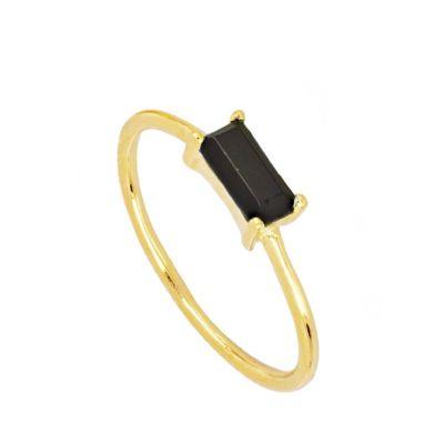 Anillo Mineral Black Gold