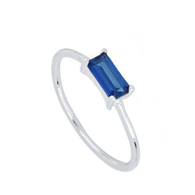 Anillo Mineral Blue Plata