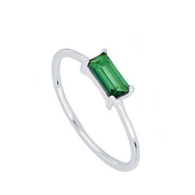Anillo Mineral Green Plata