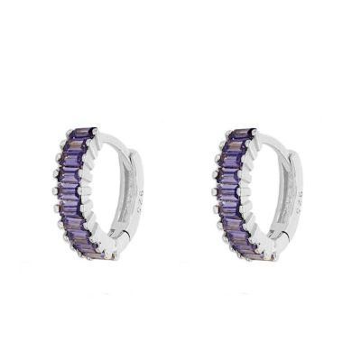 Aros Nikea Purple Plata