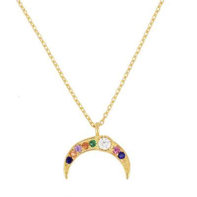 Collar Media Luna Oro