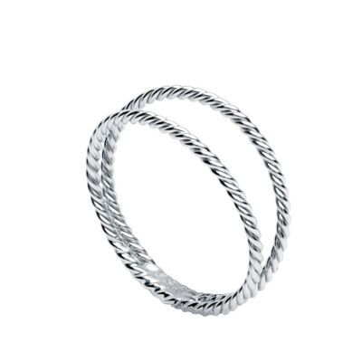 ANILLO DOUBLE TWISTED PLATA